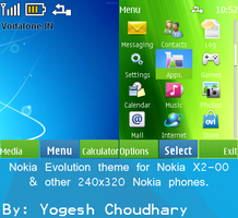 Nokia Evolution theme for Nokia X2-00 and others. by cyogesh56