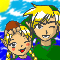Link and Aryll Oekaki by Timestones