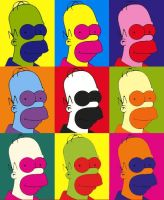 Homer Warhol by son-of-shaolin