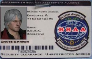 Dante BSAA ID by lionessgirl2007