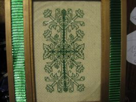 Blackwork in Green by Zaraphena