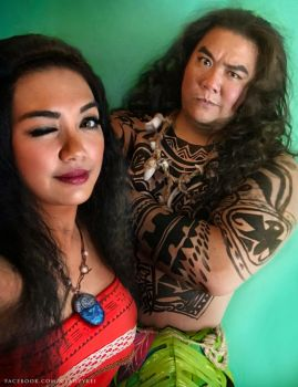 Moana and Maui Cosplay by keikei11
