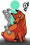 Daily doodle #20 The rabbit and the fake fox by Fuchsworld