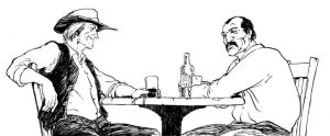 Bar Patrons by cronevald