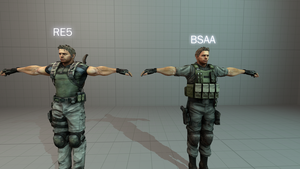 Chris Redfield pack (two outfits) by Rafas47