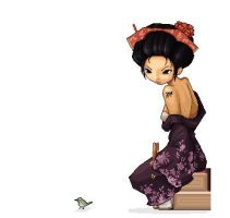 ..Geisha and Birdie.. by koruldia