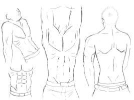 sketch-Male body study by HikaruRauchio