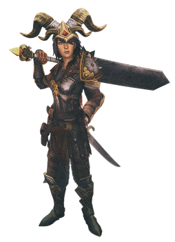 Bellona and Loki png render by lextragon