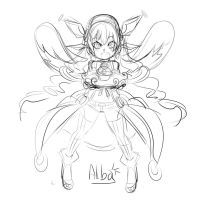 Alba2+Muffin Sketch by ManiacPaint