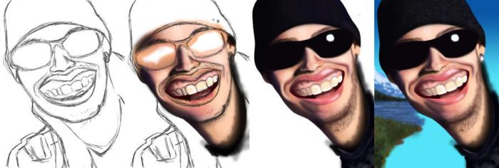 Self caricature Process by DREDS-10