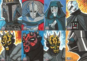 Topps Star Wars G7 - 09 Baddies by JoeHoganArt