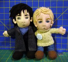 BBC Sherlock and John Plushies (Mark 2) by alice-day