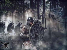 Vikings before the fight by thecasperart