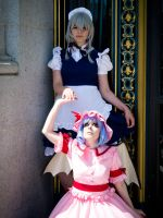 Touhou Project: Sakuya and Remilia by VieEnRouge