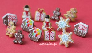 Christmas Earrings 2012 by PetitPlat