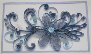 Quilling: Framed Blue Flower by staceysmile