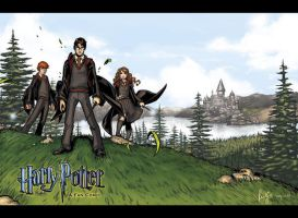 Harry Potter Comic Wallpaper by RenaeDeLiz