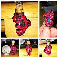 Hanging Dragon Bottle charm by LittleCLUUs