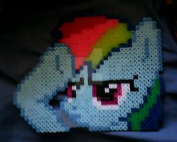 Perlers: Rainbow Dash Salute by Superstrider
