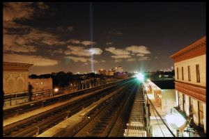 WTC Lights from my Apartment by DiabloAdvocati
