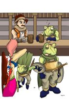 Comic Single WIP - Frogs Errywhere by mysticalpha