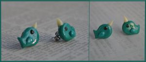 Narwhal Earrings by TheNovelArts