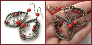 silver coral earrings by annie-jewelry