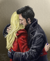 The Captain Swan hug by ShinrinRei739