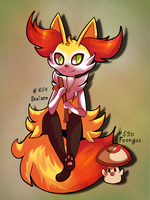 Braixen and  Foongus