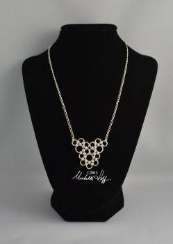 Chainmail lace necklace by Nighthawk464