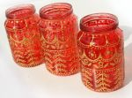Red Jar Lantern with gold henna style accents by art-sisters