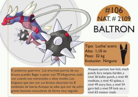Pokemon Oryu 106 Baltron by shinyscyther