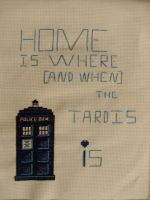Cross stitched Tardis by Ava-chankun