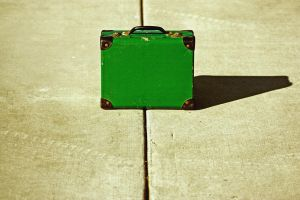 Green Suitcase by Sparklezdtr