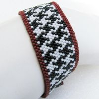 Crimson-rimmed Houndstooth by SandFibers