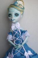 Monster High custom lagoona victorian lace ooak 2 by AdeCiroDesigns