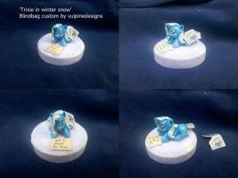 MLP FiM custom blindbag: Trixie alone in the snow by vulpinedesigns
