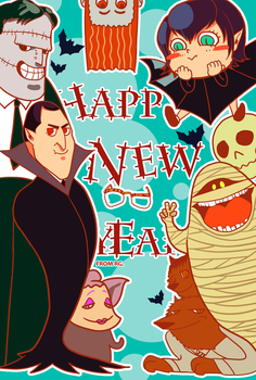 happy new year postcard by buzy069