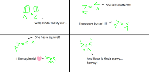 Merp Talks About Toasty and Rawr For tinypanda2208 by superstel