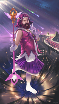 Cosplay Illustration: Star Guardian Lux by LostDecay