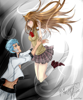 (YinYang) Grimmjow and Chihiro (Bleach OC) by MyangHime