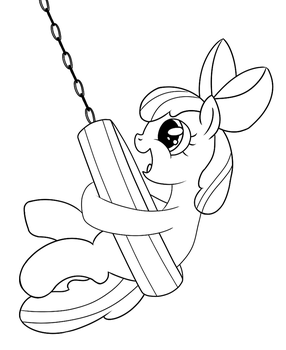 Apple Bloom's New Swing by Abion47