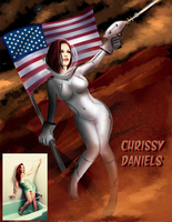 Chrissy Daniels Plants The Flag By alx234 by zenx007