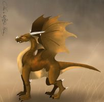 Brown dragon colored by aiduqui