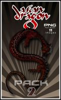 Asian Dragon PNG pack 2 by Alegion-stock