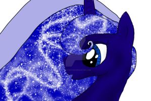 Luna up close by GypsyTwister