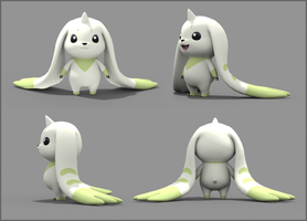 Terriermon Model by Kegawa