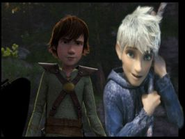Jack Frost and Hiccup by SinbadHiccup