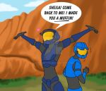 Caboose loves Sheila by AltairA7Vn
