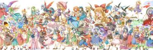 All of Touhou Characters by Nawu523